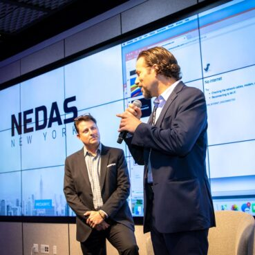 Steve Multer Corporate Storytelling emcees the 2018 NEDAS New York Summit