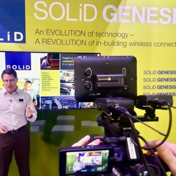 Steve Multer in front of the camera presenting SOLiD Genesis DAS