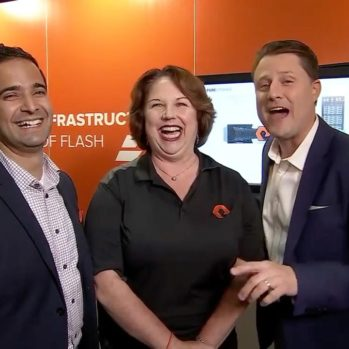 Steve Multer with the staff of Pure Storage @ Cisco Live US 2016