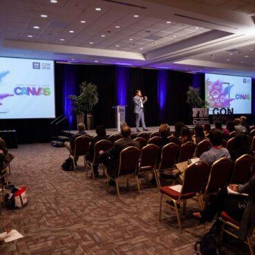 Steve Multer emcee at FIU Online Con 2018