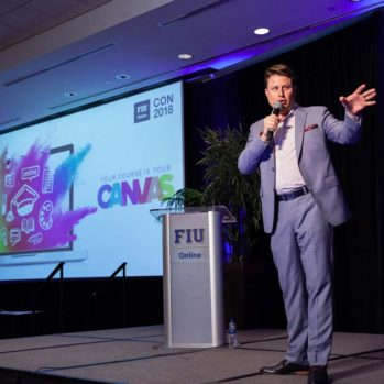 Steve Multer leads the FIU Con Online 2018 event