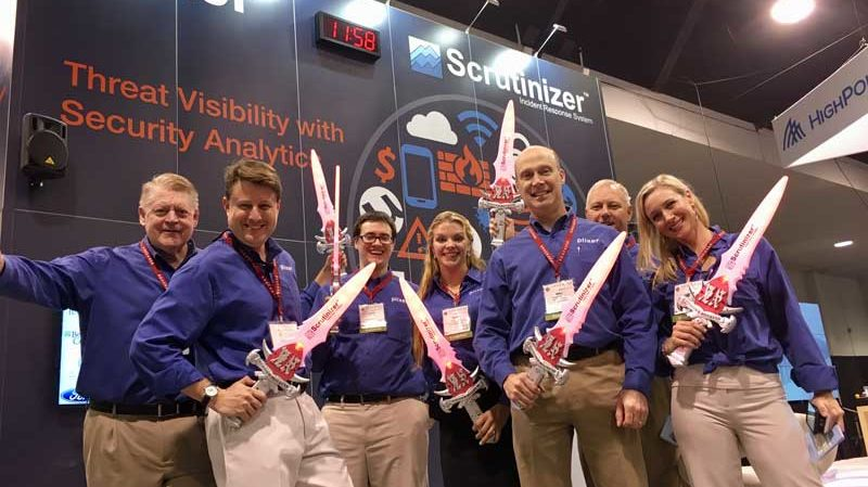 Steve Multer with the Plixer team at Educause