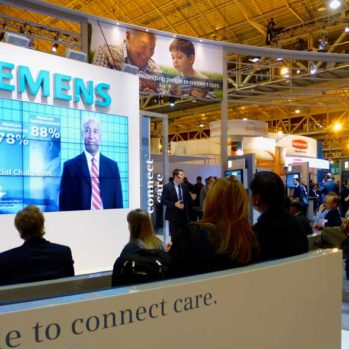 Steve Multer giving a presentation for Siemens @ HIMSS trade show