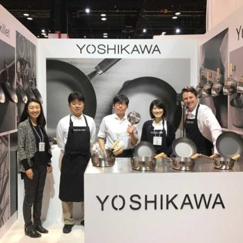 Steve Multer and the Yoshikawa trade show booth staff